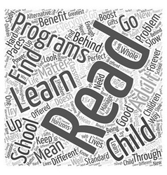 reading programs Word Cloud Concept vector image vector image