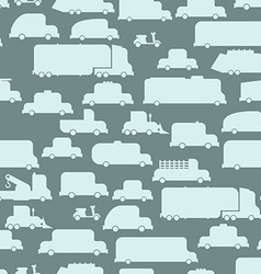 Road transport seamless background repeating vector image vector image