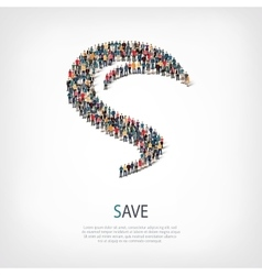 save liberty shape vector image vector image
