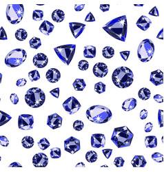 Seamless pattern with precious gem sapphire vector