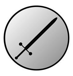 Sword button vector image vector image