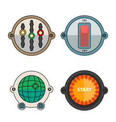 colorful buttons for different purposes vector image