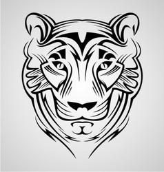 Tiger Head Tribal vector image