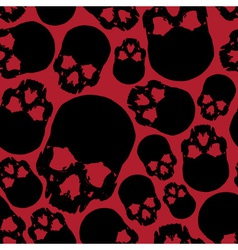 Black and red human skull seamless pattern eps10 vector