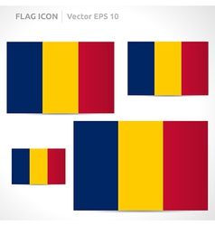 Chad flag template vector