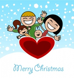 Christmas family vector