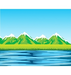 Sea and mountains vector