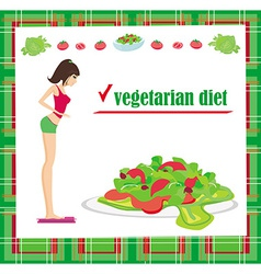 Vegetarian diet card vector