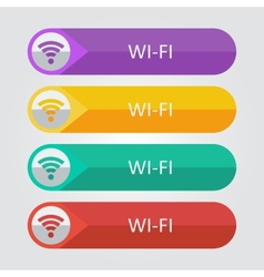 Flat buttons wi-fi vector