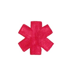 Watercolor medical emergency symbol on the white vector
