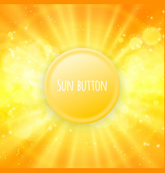 Shiny sun button for your text vector