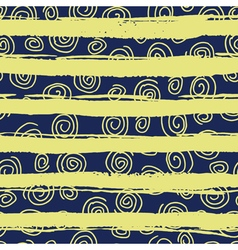 Pattern with strokes and spirals vector