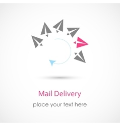 Mail delivery icon vector