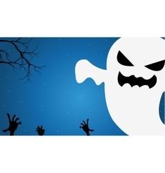 Halloween funny ghost vector