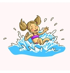Summer fun in aqua park vector