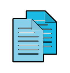 Blue sheet of paper vector