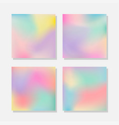 Blurred abstract pastel color backgrounds vector