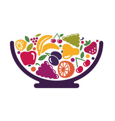bowl with fruit vector image