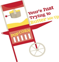 Butter me up vector