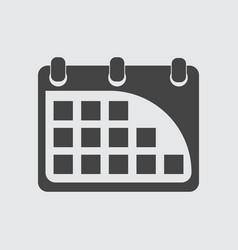 calendar icon flat vector image vector image