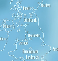 Creative Great Britain map and Ireland vector image vector image