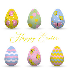 decorative easter eggs easter scenethe main vector image vector image