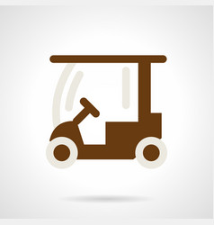 Golf course car flat color icon vector