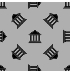 Greek temple icon seamless pattern vector