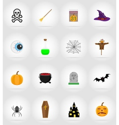 Halloween flat icons 17 vector