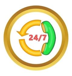 Handset icon vector