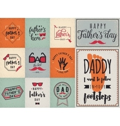 Happy fathers day wishes background lettering vector