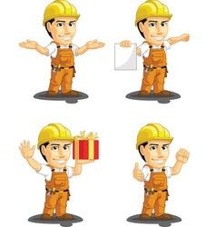 Industrial Construction Worker Mascot 11 vector image vector image