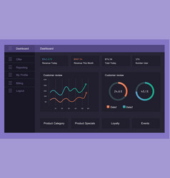 Infographic dashboard template vector