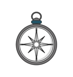 Isolated compass instrument design vector image