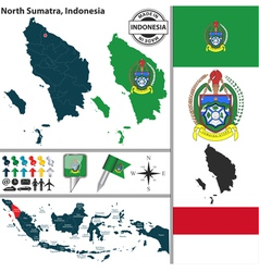 Map of north sumatra vector