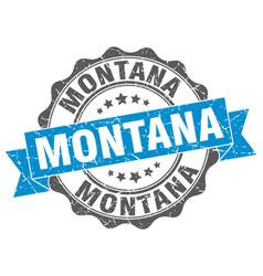 Montana round ribbon seal vector