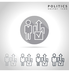 Politics outline icon vector