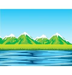 Sea and mountains vector