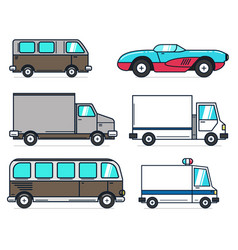 set of cartoon car on white background best for vector image