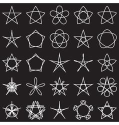 Set of stars Geometric shapes vector image