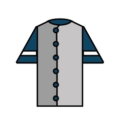shirt uniform baseball team icon vector image