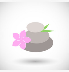 Spa stones flat icon vector