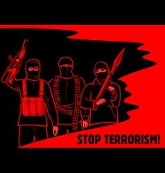 Stop terrorism poster vector