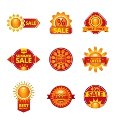 Summer sale labels set vector image vector image