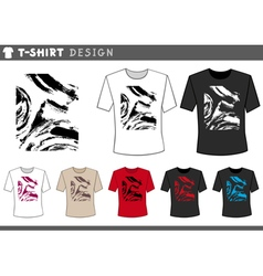 t shirt abstract design vector image