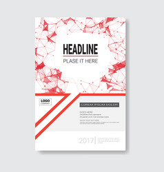 Template design brochure annual report magazine vector