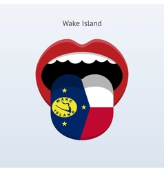 Wake Island language Abstract human tongue vector image vector image