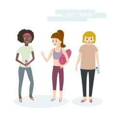 Women sport activities vector image