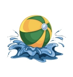 inflatable ball in the vector image