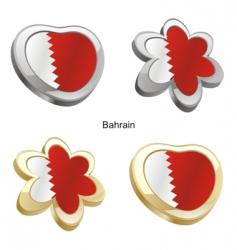 flag of Bahrain vector image